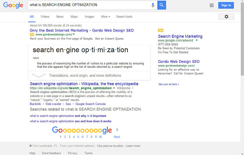 Gordo Web Design Fort Lauderdale Internet Marketing Service