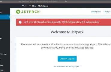 WordPress Jetpack failed connection - cURL error 28: Operation timed out after 1000 milliseconds with 0 bytes received [SOLVED]